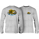 Powell Peralta Oval Dragon YOUTH L/S - Athletic Heather