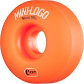 Mini Logo Skateboard Wheels C-cut 54mm 101A Orange 4pk