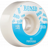 BONES WHEELS OG Formula Skateboard Wheels 100 #13 53mm V4 Wide 4pk White