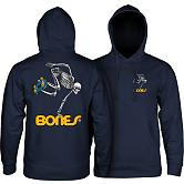 Powell Peralta Skateboard Skeleton Hood Sweatshirt Mid Weight Navy