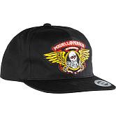 Powell Peralta Winged Ripper Patch Snapback Cap Black