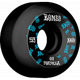 BONES WHEELS OG Formula Skateboard Wheels 100 #3 53mm V5 Sidecut 4pk Black