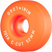 "Mini Logo Skateboard Wheels C-cut ""2"" 52mm 101A Orange 4pk"