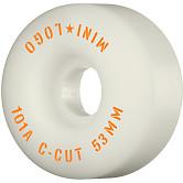 "Mini Logo Skateboard Wheels C-cut ""2"" 53mm 101A White 4pk"