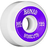 BONES WHEELS 100 #2 V5 Skateboard Wheel 55mm 4pk White V5 Sidecut