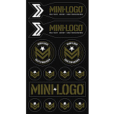 "Mini Logo Sticker MILITANT ""3"" Green/Black Font Single"
