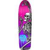 Powell Peralta Funshape Hippie Skeleton 3 Skateboard Deck Pink/Purple - 8.6 x 31.66