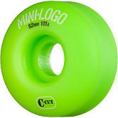 Mini Logo Skateboard Wheels C-cut 52mm 101A Green 4pk