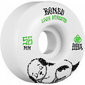 BONES WHEELS STF Rest Easy Skateboard Wheels 56mm 99a Easy Streets Fatties 4pk White White