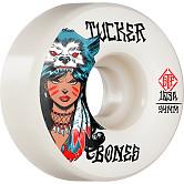 BONES WHEELS PRO STF Skateboard Wheels Tucker We Are Wolves 54mm V1 Standard 103A 4pk