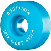 "Mini Logo Skateboard Wheels C-cut ""2"" 53mm 101A Blue 4pk"