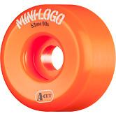 Mini Logo Skateboard Wheels A-cut 53mm 90A Orange 4pk