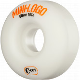 Mini Logo Skateboard Wheels C-cut 50mm 101A White 4pk
