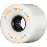Mini Logo AWOL Skateboard Wheels 59mm 80A White 4pk