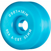 "Mini Logo Skateboard Wheels A-cut ""2"" 53mm 90A Blue 4pk"