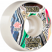 BONES WHEELS PRO STF Skateboard Wheels Gustavo Bed-Stuy 53mm V1 Standard 103A 4Pk