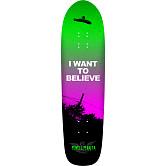 Powell Peralta Funshape Believe 3 Skateboard Deck Green/Purple - 8.6 x 31.84