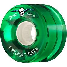 Powell Peralta Clear Cruiser Skateboard Wheel Green 63mm 80A 4pk