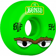 BONES WHEELS STF Mean Greens Skateboard Wheel V1 54mm 103A 4pk