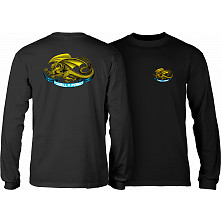 Powell Peralta Oval Dragon YOUTH L/S - Black
