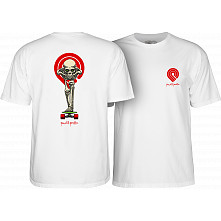 Powell Peralta Tucking Skeleton T-shirt White