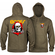 Powell Peralta Ripper Hooded sweatshirt Mid Weight Army Heather