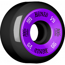 BONES 100's 55x32 V5 Skateboard Wheel 100A Black 4pk