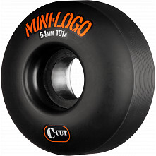 Mini Logo Skateboard Wheels C-cut 54mm 101A Black 4pk