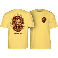 Powell Peralta Salman Agah Lion T-Shirt Banana Yellow