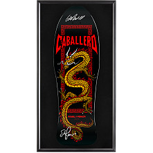 Bones Brigade® Shadowbox Caballero Skateboard Deck Black - Signed by George/Stacy