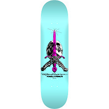 Powell Peralta Skull and Sword Skateboard Blem Deck Pastel Blue 242 K20 - 8 x 31.45