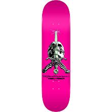 Powell Peralta Skull and Sword Skateboard Blem Deck Pastel Pink 244 K20 - 8.5 x 32.08