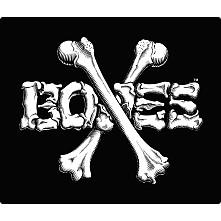 """BONES WHEELS Crossbones 12"""" Sticker Single"""