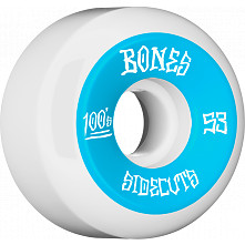 BONES WHEELS 100 #2 V5 Skateboard WHeel 53mm 4pk White