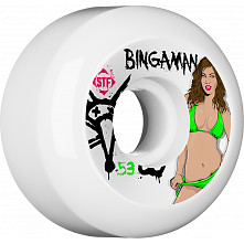 BONES WHEELS STF Pro Bingaman Pin Up 53mm 4pk