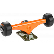 "Mini Logo Truck Assembly - 7.63"" Split Green/Orange - ML Bearings - 53mm 90a Black Wheels"
