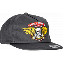 Powell Peralta Winged Ripper Snap Back Cap - Charcoal