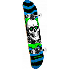 Powell Peralta Ripper One Off '15' Complete Skateboard Assembly Blue/Green - 7.75 x 31.75