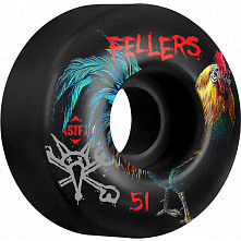 BONES WHEELS STF Pro Sierra Roost 51mm Black Wheels 4pk