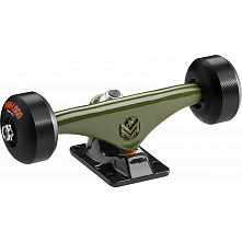 "Mini Logo Truck Assembly - 7.63"" Split Green/Black - ML Bearings - 53mm 90a Black Wheels"