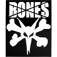 "BONES WHEELS 16"" Ramp Square Sticker (Single)"
