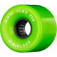 Mini Logo AWOL Skateboard Wheels 55mm 80A Green 4pk
