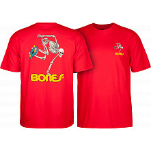 Powell Peralta Skate Skeleton T-shirt - Red