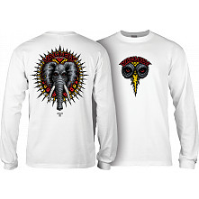 Powell Peralta Vallely Elephant L/S Shirt White