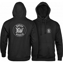 BONES WHEELS Branded Sweatshirt Hooded Black