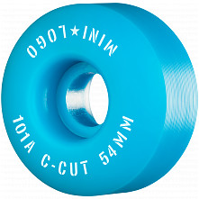 "Mini Logo Skateboard Wheels C-cut ""2"" 54mm 101A Blue 4pk"