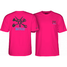 Powell Peralta Rat Bones YOUTH T-shirt - Hot Pink