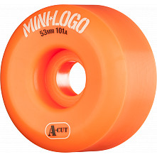 Mini Logo Skateboard Wheels A-cut 53mm 101A Orange 4pk