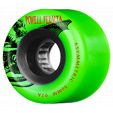 Powell Peralta Asymmetric Wheel 56mm 97a Green 4pk