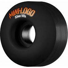 Mini Logo Skateboard Wheels C-cut 53mm 101A Black 4pk